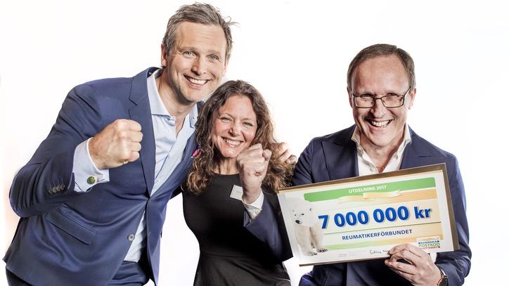 Reumatikerförbundet har tagit emot 7 miljoner kronor från PostkodLotteriet