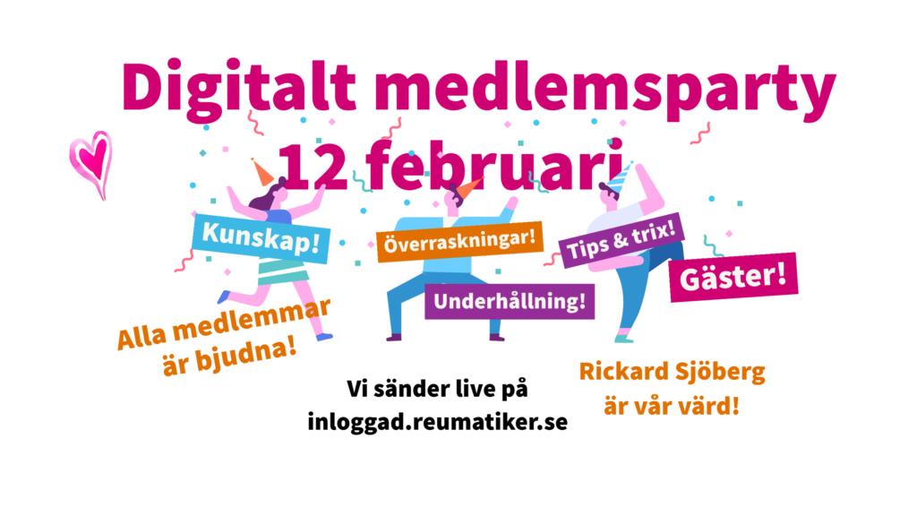Medlemsparty 12 februari